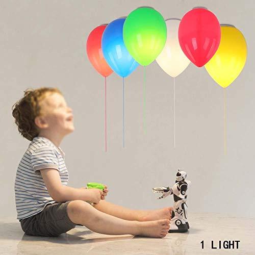 Plafonnière, moderne eenvoudige Scandinavische stijl, levendige kleur, ballon met enkele kop, plafondlamp van glas, woonkamer, slaapkamer, plafondlamp (kleur, grootte en opties), warme deken, Startside, (kleur: geel tot 25 cm)