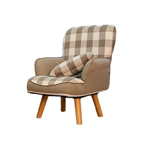 Fauteuils inclinables Fauteuils et Chaises Tatami Paresseux canapé Chaise Jolie Fille Chambre Petit Balcon Salon Chaise canapé Simple (Color : Brown)