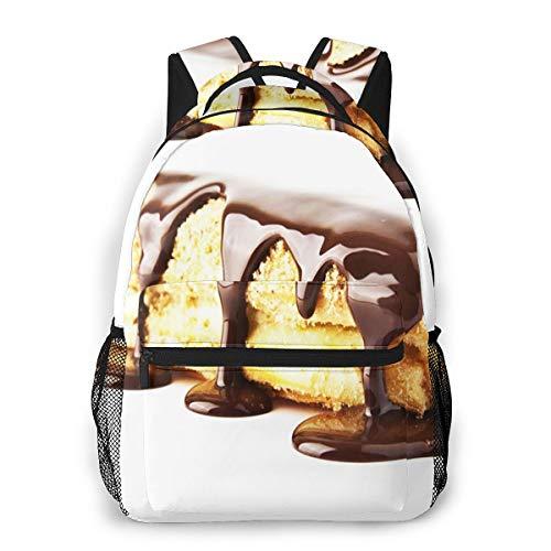 Rucksack Freizeit und Ausflüge Damen Herren Mädchen, Campus Kinderrucksack, Daypack Tagesrucksack für Schule, Sportrucksack, Tablet Tasche Nachtisch-Sahnekuchen-Schokoladen-Bonbon