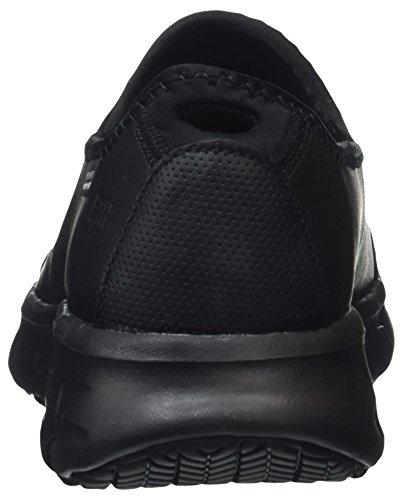 Skechers Sure Track, Zapatos de Trabajo Mujer, Negro (BBK Black Leather), 39 EU