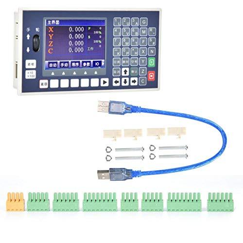 Sistema de Control de Movimiento Cnc de 24 V DC, Controlador Cnc Programable Con Pantalla Lcd, Controlador Cnc de Salida de Pulsos Para Servomotor Paso A Paso(Triaxial)