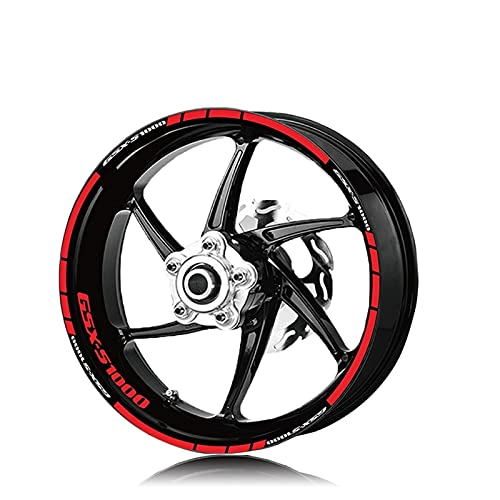 Etiquetas engomadas de la Rueda Impermeable de la Rueda Impermeable del neumático de la Motocicleta Pegatinas de la calcomanía del Moto de la Raya Reflectante para Suzuki GSX-S1000 GSXS 1000 GSXS1000