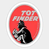 Pack of 4-3' Stickers -Tot Finder Retro Fire Rescue Sticker