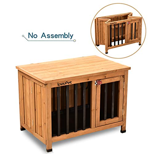 Lovupet No Assembly Wooden Portable Foldable Pet...