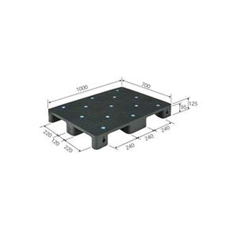 涙パースギャラントリー三甲 - サンコー - / プラスチックパレット/プラパレ / - 単面型 - / リサイクル / S4-710 / ブラック - 黒 - - -