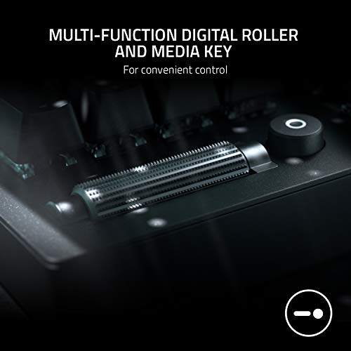 Razer BlackWidow V3 Green Switch Tastiera da Gaming con Illuminazione Chroma RGB, Rotella Digitale Multi-Funzione e Tasti Multimediali, Poggia Polsi Ergonomico, Layout Italiano, Nero