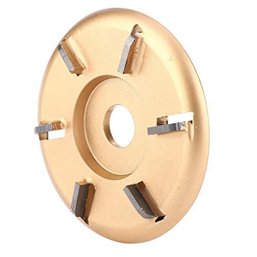 Disco de tallado de madera, disco de tallado de 6 dientes, alta eficiencia de corte, accesorio de amoladora angular duradero, conveniente para tallar madera