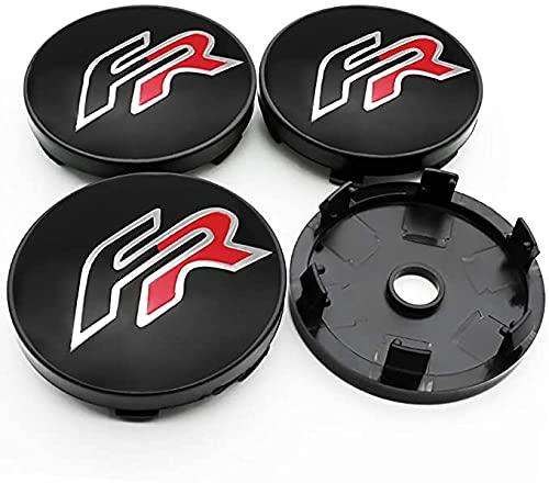 4 Piezas 60mm De Tapas Rueda Centro Tapacubos De Metal Para Leon Fr+Cupra Ibiza Altea Exeo,La Rueda Logo Insignia Coche Accesorios