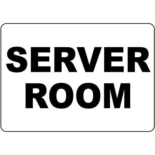 239 Nueva muestra de estaño para habitación de servidor, metal de aluminio, decoración de pared, 20 x 30 cm