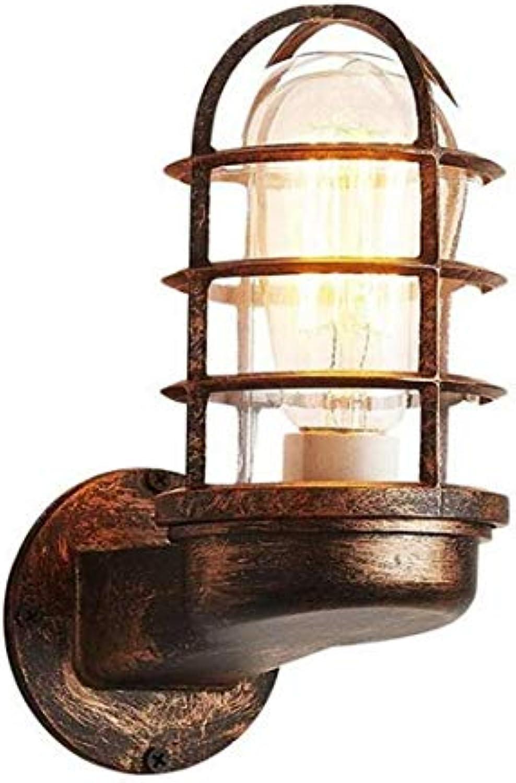 Vintage Chandelierspotlight Retro Nostalgie Glas Eisen Wandleuchte Persnlichkeit Kreative E27 1-Light Edison Wandleuchte