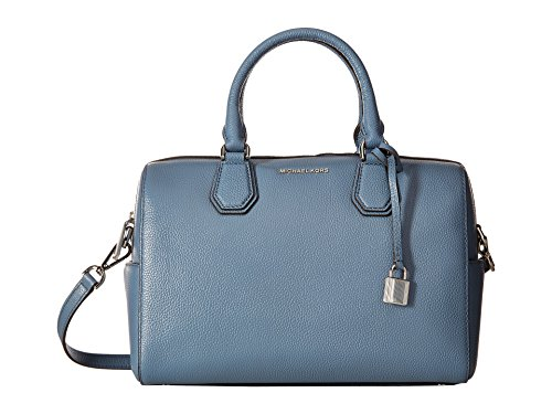 Top zip closure Double handle and single shoulder strap Inside one zip and four slide pockets