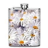 Daisy Flower Retro portátil de acero inoxidable a prueba de fugas 7OZ Pot Hip Flask Travel Camping Flagon