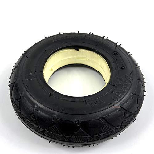 L-faster Rueda sólida de 8 Pulgadas con Freno de Tambor 200x50 Rueda no neumática con Freno mecánico Scooter Control de Estabilidad de Marcha Neumático Plano (Solid Tire)