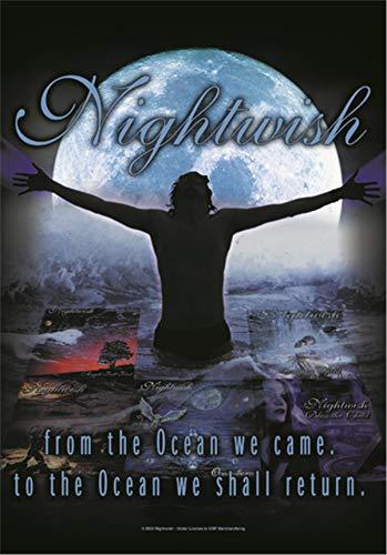 Heart Rock Original-Flagge Nightwish from The Ocean, Stoff, Mehrfarbig, 110 x 75 x 0.1 cm