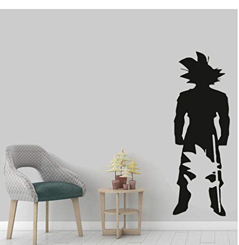 Goku Growth Style Wall Stickers Dragon Ball Z Character Vinyl Wall Decal Boy Game Room Decoration Goku Silhouette Mural 57x165cm