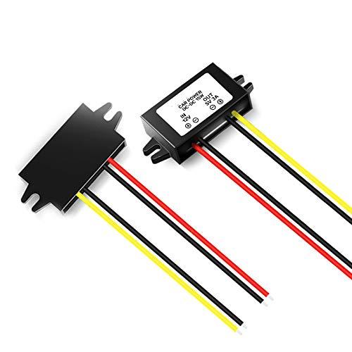 Magnolora Car LED Display Power Supply 12V to 5V 3A DC/DC Buck Converter Module