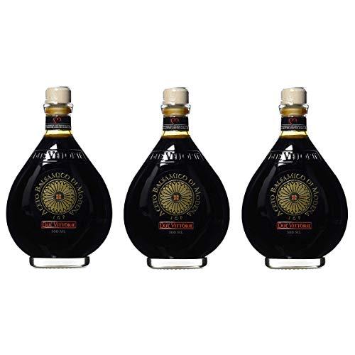 OFFERTA 3 Confezioni di Due Vittorie - Aceto Balsamico di Modena IGP Oro, 500 ml