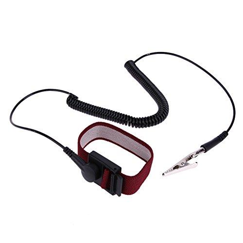 Amazingdeal365 2 m 700 Ohm câble anti statique ESD Dragonne/sol statique décharge Band