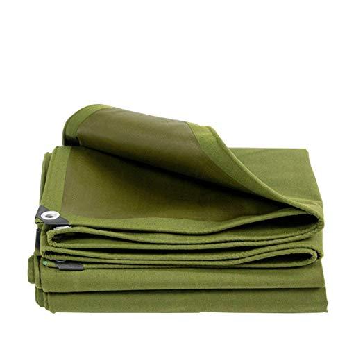 JUNWEN Lhxterarpaulin, wasserdichtes Hochleistungs-Plane, geeignet für Gegenstandsabdeckung, Gartendekoration, Outdoor Camping, Campzelt, mehreren Optionen, grün (Größe: 4...