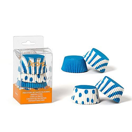 Decora 0339610 Paquet 75 CAISSETTES Fantaisie Bleu 50 X 32 MM, Paper, Multicolore, 30 x 5 x 3,2 cm