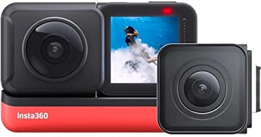 Insta360 ONE R Twin Edition 5.7K Panoramic Sports Action Camera 4K 60fps Wide Angle Flow State Anti-Shake IPX8...