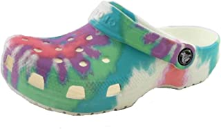 Unisex-Child Kids' Classic Tie Dye Clog | Slip on Shoes for Boys and Girls