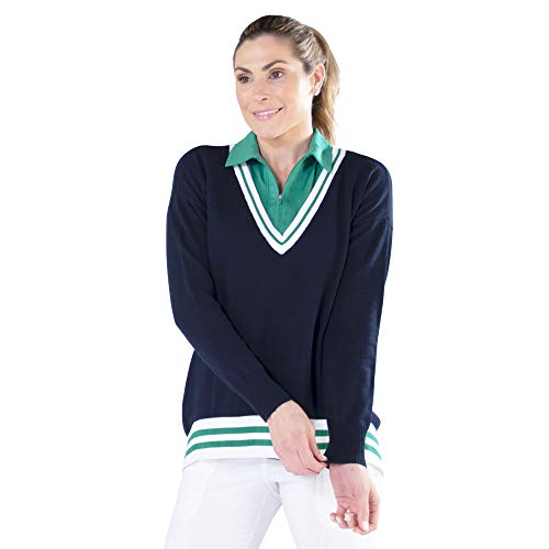 Jofit Apparel Women's Athletic Clothing Heritage Sweater for Golf & Tennis, Size XX-Large, Midnight