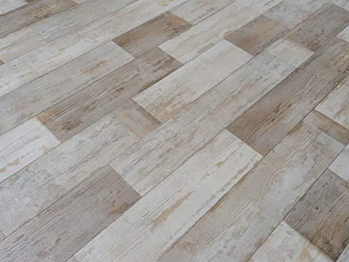 PVC Bodenbelag im Vintage-Design, braun (9,95€/m²), Zuschnitt (2m breit, 5m lang)