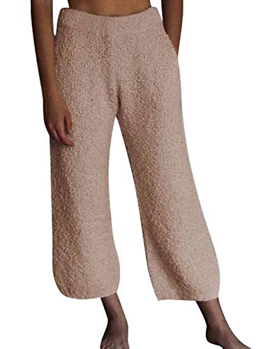 Babao Dames Warm Fleece Casual Broek Faux Bont Broek