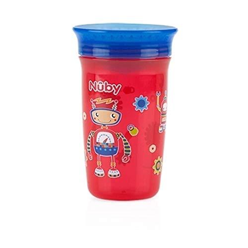 12/m sans BPA Consomment enfants 360//° Mini sans d/éborder de coupe /à partir de Nuby 4 Gouttes deau