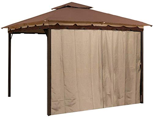 Sunjoy L-GZ436PFB Gazebo Privacy Panel Side Wall fits 10' and 12' Gazebos