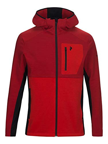 Peak Performance Heren Helo Zip Hodded Fleece Jas Fleece Pullover nieuw