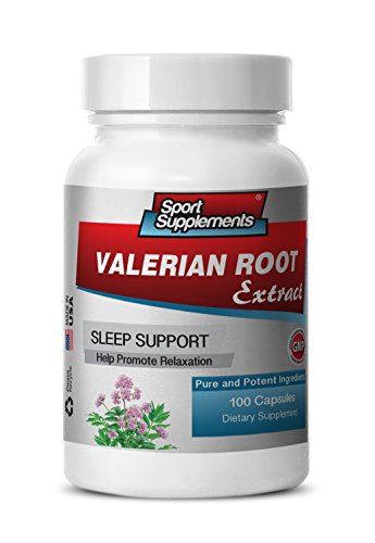 Valerian Extract Pills - Valerian Root Extract 4:1 125mg - Reduce The Negative Effects Associated with Stress with Premium Valerian Root Supplement (1 Bottle 100 Capsules)