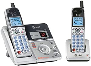 AT&T E5912B - 5.8 GHz Digital Dual Handset Phone w/Answering System
