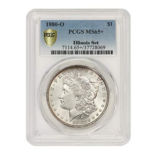 1880 O American Silver Morgan Dollar MS-65+ Illinois Set by CoinFolio...