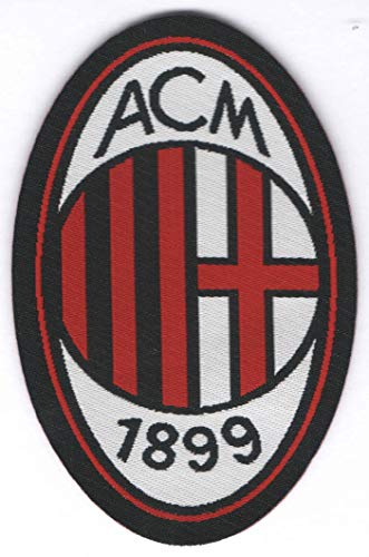Parche termoadhesivo con escudo Milan - Dimensiones: 8,5 x 5,4 cm - Fabricado en Italia