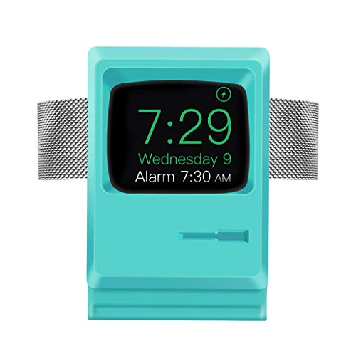 OKwife Universal Soft Silicone Retro Charger Dock Soporte de Soporte Compacto para Apple Watch Series 1/2/3/4 44mm 42mm 40mm 38mm