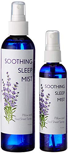Deep Bedtime Sleep. Lavender Pillow and Bed Sheet Spray. Clary Sage and Lavender Sleep Spray. (1 Each of 4 ounce, 8 ounce and 2 Lavender Pillow Sachets)