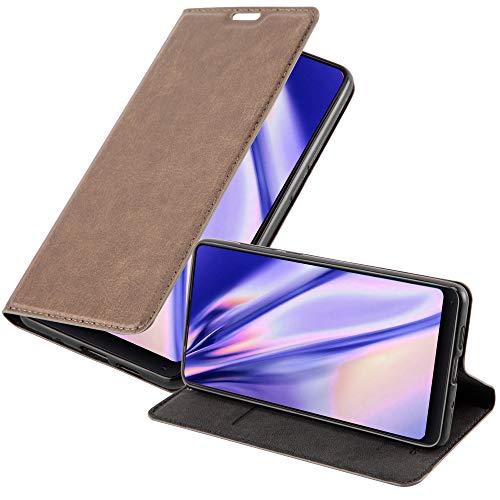 Cadorabo Hülle für Xiaomi Mi Mix 2S in Kaffee BRAUN - Handyhülle mit Magnetverschluss, Standfunktion & Kartenfach - Hülle Cover Schutzhülle Etui Tasche Book Klapp Style