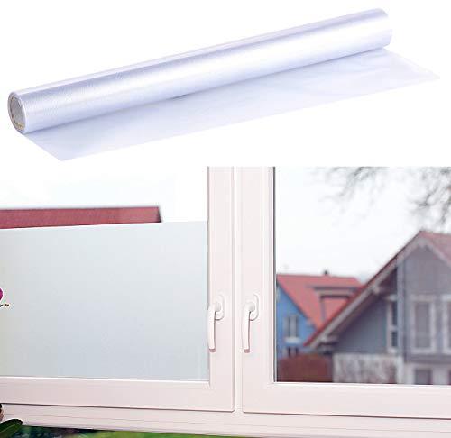 infactory Sichtschutzfolie: Milchglasfolie, statisch haftende Sichtschutz-Folie, 45 x 200 cm (Sichtschutzfolie Milchglas)