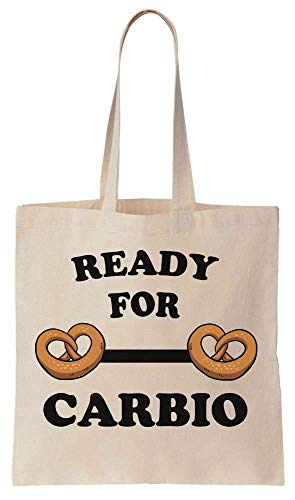 Finest Prints Ready For Carbio Funny Two Buns Design Cotton Canvas Tote Bag