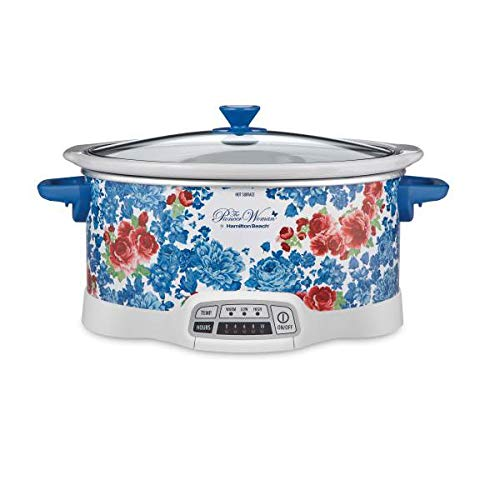 The Pioneer Woman Frontier Rose 7-Quart Programmable Slow...