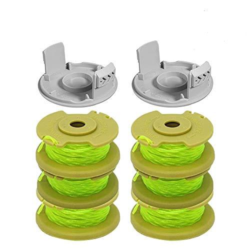 Bobine de rechange pour coupe-bordure Ryobi One Plus AC80RL3 18 V 24 V 40 V RY40204 RY40220 ZRP2080 (8 pièces)
