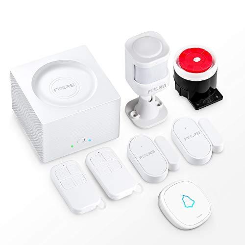 G95 Alarmanlage System mit 1 Host-Steuerung 2 Tür- und Fenstersensoren 1 Bewegungsmelder 2 Fernbedienungen 1 Türklingel 120dB-Sirene GSM Wi-Fi 2,4-GHz Android IOS Alarmsystem