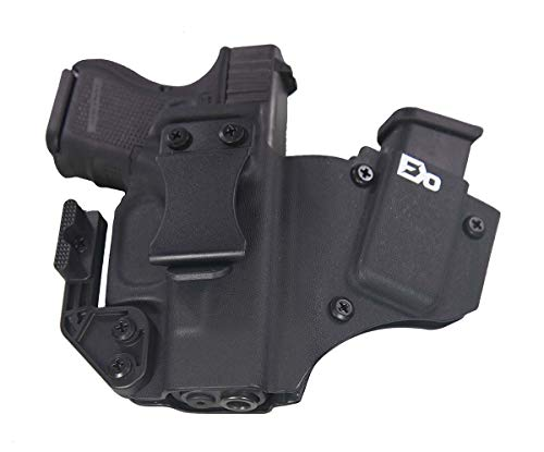 Fierce Defender IWB Kydex Holster Compatible with Glock 26 27 +1 Series W/Claw -Made in USA- (Black)