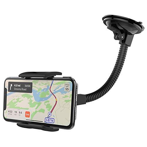 MONTOLA® Universal Handy Autohalterung Smartphone & Navi - kompatibel mit Tomtom Garmin KFZ-Halterung mit Schwanenhals und Kugelgelenk passend für jedes Auto