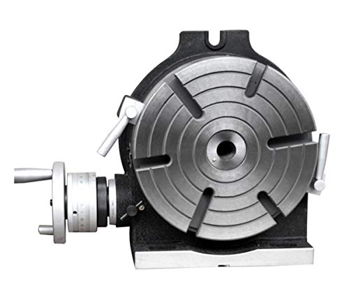 MXBAOHENG Drehtisch mit Indexierplatte Trennwand Horizontal Vertikal für Fräsmaschine 6 Schlitze, 14 Inches