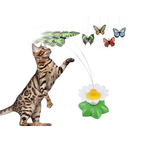 Keersi Funny Tumbler Katze Kätzchen interaktiven Spielzeug Teaser Spielzeug Feder Stick Chaser Zauberstab