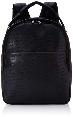 Armani Exchange - Backpack With Handle, Mochilas Hombre, Negro (Nero Black), 36x12x29 cm (B x H T)
