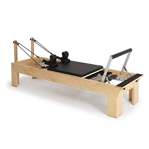ELINA PILATES. Reformer DE Madera – Máquina Pilates para Profesionales. Reformer desarrollado por técnicos Expertos en Pilates de Todo el Mundo. 27 cm Altura de Cama.